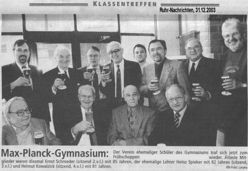 RN Bericht Weihnachten 2003