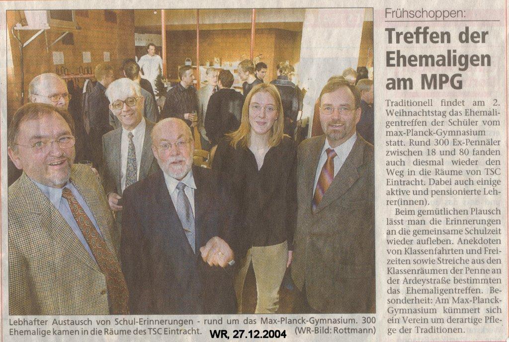 WR Bericht Weihnachten 2004